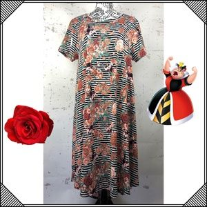 * LulaRoe Carly Dress * Queen of Hearts Disney *